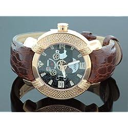 Aqua Master Mens Diamond Watch Hip Hop Jewelry 96-63