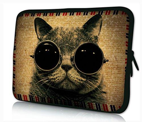 Luxburg® Design Laptoptasche Notebooktasche Sleeve für 15,6 Zoll, Motiv: Mieze 'Cool'