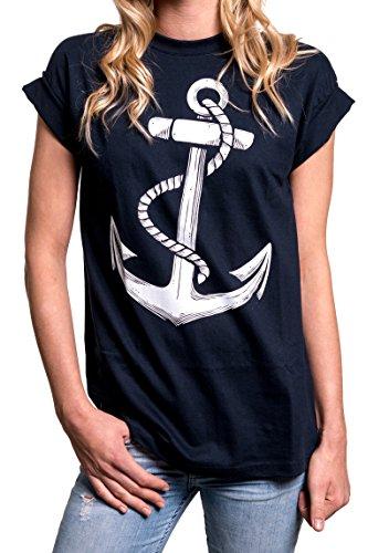 berteile - Anker T-Shirt Damen blau M ()