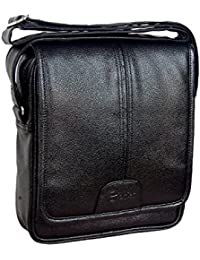 Easies Black Color Synthetic Leather Trendy Medium Size Sling Bag For Men For Daily Use By Exclusive Fashion Luggage