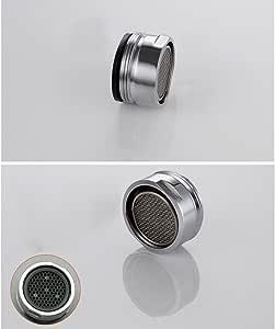 24mm Chrome Fils Pivotant Robinet Bec A/érateur Filtre Pulv/érisateur Maison Cuisine Eau /Économie