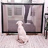 Lispeed Rete per Cani e Animali Domestici, Rete di Sicurezza, Rete per Cani, Rete Isolante, barriera di Sicurezza – griglia fine Retrattile barriera di Sicurezza Pieghevole 72 – 180 cm.