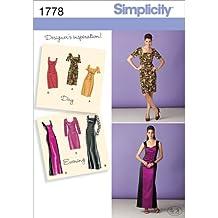H5 - Patrones de costura para vestidos de fiesta de mujer (tallas