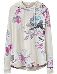 Joules Marlstonprint Hooded Sweatshirt, Whtrose