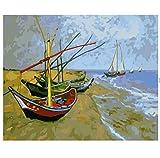 XIGZI Grande Taille Huile Encadrée Image Peinture par Nombres Paysage Abstrait DIY Numérique Toile Peinture À l'huile Mur Art 40X50 CM,sans Cadre,I