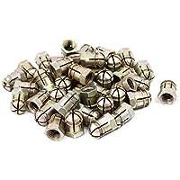 50Stk 6mm Gewinde Durchmesser Edelstahl gezahnten Bundmuttern Sicherungsmuttern