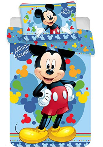 Disney Micky Maus Baby-Bettwäsche Set 135 x 100cm (Baby-mädchen Bettwäsche Disney Set)