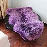 Acecoree Sheepskin Rug Super-Soft Zealand Fur Throw Rug for Sofa, Bed Or Floor Decor