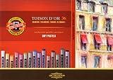 Koh-I-Noor 8515036005KS TOISON D'OR 8515 runde Pastellkreide, 36 Stück