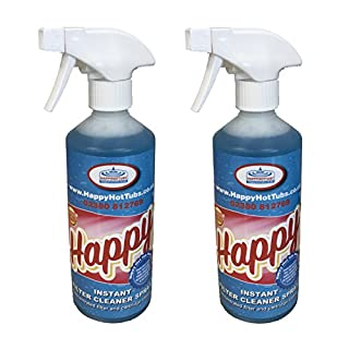 Happy Hot Tubs Instant Filter Cleaner Spray 2 x 500ml Hot Tub Pool Spa Tubs Spas