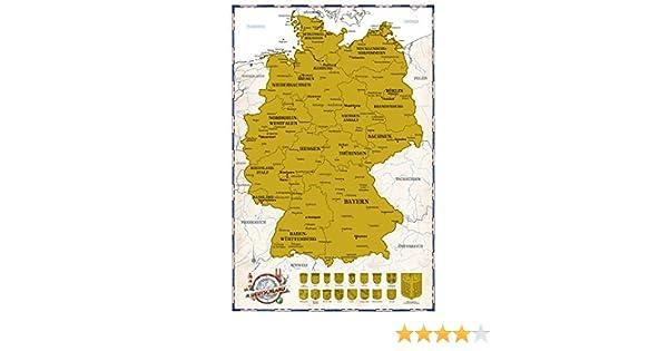 Deutschlandkarte Zum Rubbeln