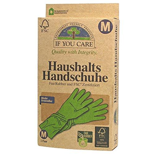 If you care FSC Haushalts Gummi Handschuhe Fair Rubber Größe M, 2er Pack (2 x 2 Stück) -