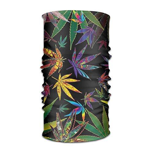 KL Decor Unisex Pot Leaves Marijuana Multifunction Bandana Headband Athletic Headwear Sweatband,Magic Scarf,Neck Balaclava,Helmet Liner,Tube Mask,UV Resistence Outdoor Sport Yoga -
