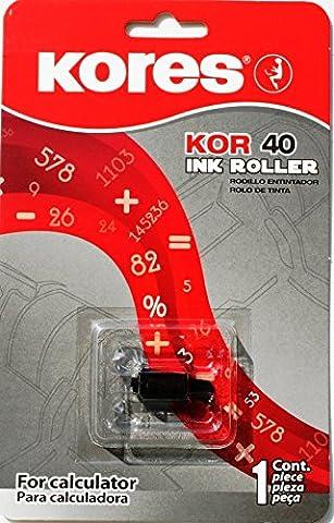 Kores G744S kompatible Farbrolle für Tischrechner, Filz schwarz für Modell Epson IR 40 ua