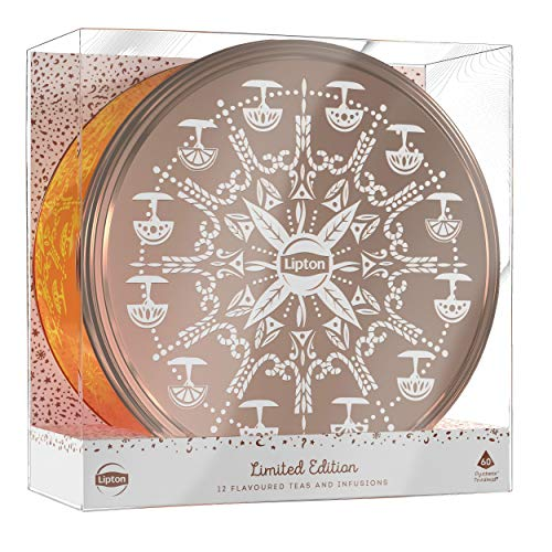 geschenke mit tee Lipton Premium Tee Geschenkdose (5x12 Pyramidenbeutel), 1er Pack (1 x 108 g)