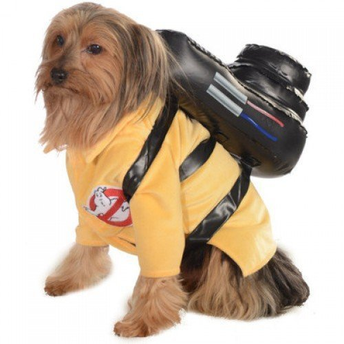 Official Pet Dog Cat Ghostbusters Halloween Fancy Dress Outfit - 3 sizes