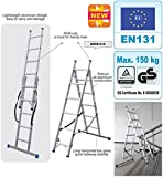 Combination Step Ladder 3 Way | Aluminium Step Ladders | Staircase Ladder | EN 131