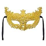 Lazzboy Karneval Maske Venezianische Maskerade Masken Karneval Party (M,Gelb)