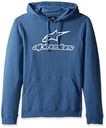 Alpinestars Herren Fleece Always Logo Pullover Hoodie Classic Fit Blau