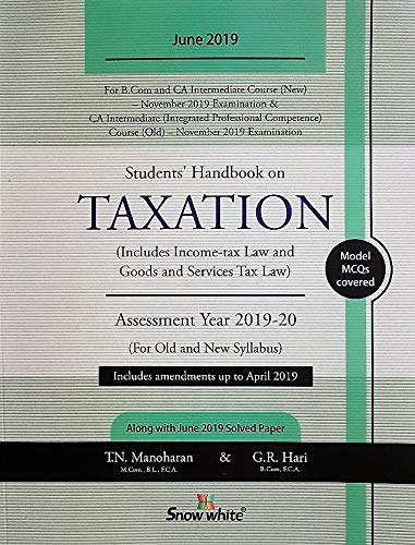 Snow White Students'Handbook on Taxation for Assessment Year 2019-20