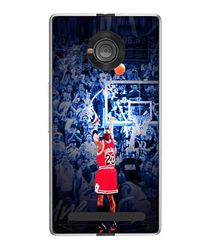 PrintVisa Designer Back Case Cover for YU Yuphoria (basket ball player with crowd)