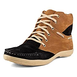 Golden Sparrow MenS Brown Fabric Synthetic Casual Shoe (Tm-P63-06)- 6 Uk