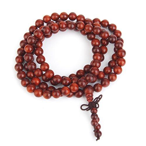 Bracelet Mala Bouddhiste Style Tibétain à 108 8MM Perles Chapelets en Bois