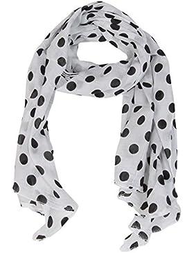 Seiden-Tuch für Damen mit Kreis-Print von Zwillingsherz / Elegantes Accessoire für Frauen auch als Schal / Seiden-Schal...