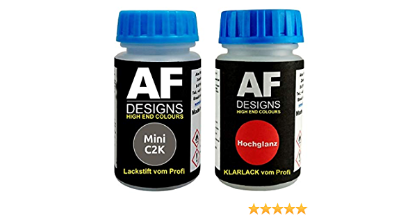 Lackstift Für Mini C2k Melting Silver Metallic Klarlack Je 50ml Autolack Basislack Set Auto