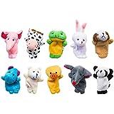 Hinsper Finger Puppets Cute Animal Hand Puppet Set Soft Finger Puppets Toys Best Gift For Kids Set Of 10