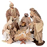Presepe natural set 6 pz resina 50 cm