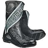 Daytona EVO SPORTS Herren Racing Motorradstiefel Leder - schwarz grau Größe 43