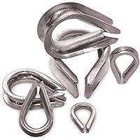 Jumbo de guardacabos (10x 4mm–Cuerda de alambre kauschen Cable de acero galvanizado para acero galvanizado Alambre