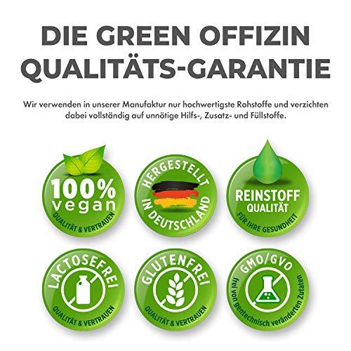 Green Offizin BIO Magnesium | Hochdosiert 350mg je Tagesdosis + wertvoller Vitamin B-Komplex + Folsäure | Mit Dolomit Magnesium, Glycinat & Magnesiumcitrat | Vegan | 2 Monate Kur