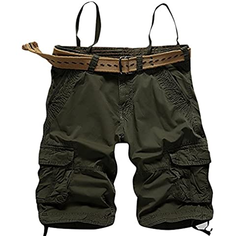 CeRui Pantaloncini Da Uomo Cargo Shorts Bermuda Militari
