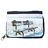 Portemonnaie Geldbörse Brieftasche // M00154778 Bench Park Snow Snowy Snowed // Purse Wallet