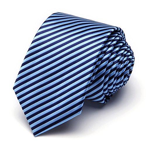XIANGUO Herren Krawatte Fashion Streifen Muster Krawatte für Casual & Arbeitskleidung,One Size Blau (Tie-dye Blau Grün)