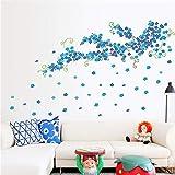 JIAER Fliegen Blumen Floral 3D Wandaufkleber Wohnzimmer Schlafzimmer TV Sofa Hintergrund Decals Dekoration Tapetenwand Poster