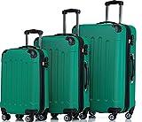 SHAIK ® 3-tlg. Hartschalen Kofferset, Trolley, Koffer, Reisekoffer, 45/78/124 Liter,...