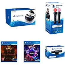 PS VR + Move Doble Pack + Cámara + VR Worlds + Until Dawn: Rush Of Blood VR