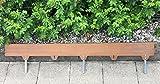 Bellissa Corten metallo/acciaio inox/lunghezza: 1,5m, spessore: 2mm, altezza: 12,5cm