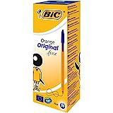 BIC 8099221 Orange Original Fine Penna a sfera, 0.8 mm, 20 pezzi, Blu