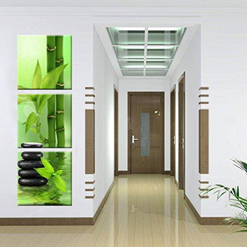 3 parti quadro zen su tela bambù ciottoli nero acqua natura astratto moderno immagini da parete stampa su tela ornamento artistica wall art per decor casa ufficio hotel club regalo senza cornice