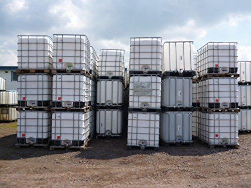 1b Natur (1000-Liter-IBC-Container-Tank-Regentonne-Natur-NEU-1B-Gitterbox-und-Palette)
