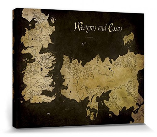 1art1® Juego De Tronos - Mapa Antiguo De Westeros