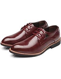 Xujw-shoes, Chaussures homme 2018, Chaussures en cuir PU pour hommes peau de serpent lisse texture supérieure lacets oxford doublés respirant basse (Couleur : Noir, Taille : 39 EU)