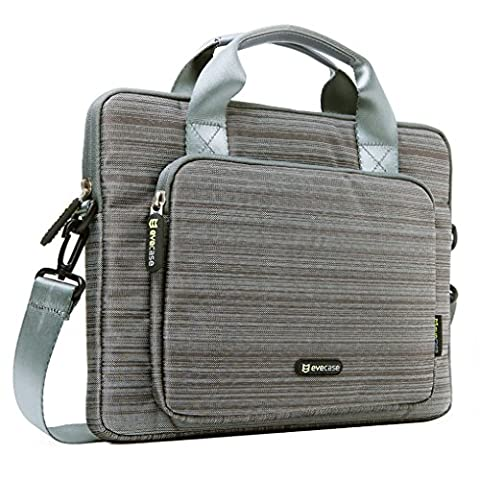 Evecase 13-13.3 inch Laptop Classic Suit Fabric Shoulder Bag Carry Case Briefcase for Acer Apple Asus Dell HP Lenovo Samsung Toshiba Laptop Notebook Chromebook Ultrabook -