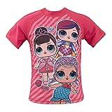 L.O.L. Surprise! - Costume Maglietta Muta Mare Piscina Anti UV 30+ - Prodotto Originale con Licenza Ufficiale 812-81 [Fucsia - 4 Anni - 104 cm]