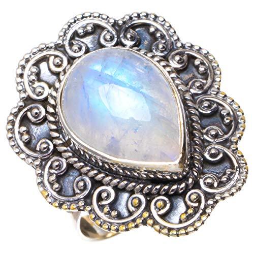 925er Sterling Silber Moonstone Einzigartig Handgefertigt Ringe 18 Numerous Colors B1094