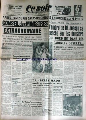 CE SOIR [No 1824] du 31/08/1947